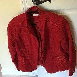 Beautiful embroidered deep red jacket like new!